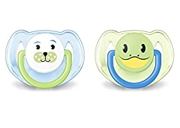 Philips Avent Classic - Chupete para 6-18 meses, color azul / verde