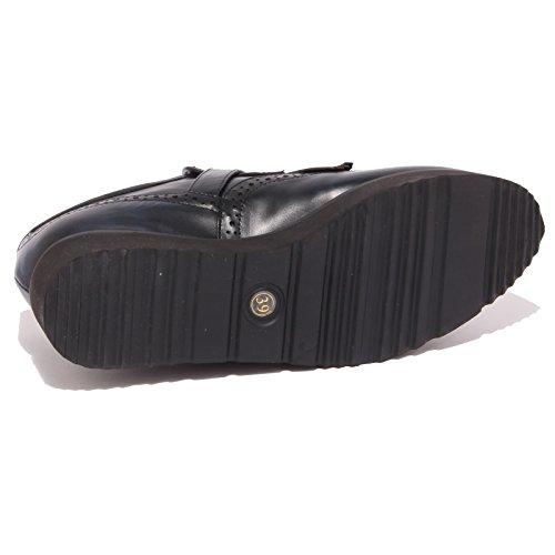 8677P scarpa all'inglese MASSIMO SANTINI blu scarpa donna shoe woman Blu