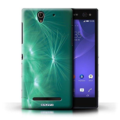 Kobalt® Imprimé Etui / Coque pour Sony Xperia C3 / Turquoise conception / Série Allumez la vie Turquoise