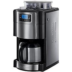 Russell Hobbs 21430-56 Machine à Café Cafetière Filtre Semi Automatique Buckingham, Moulin à Café, Verseuse Isotherme