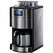 Russell Hobbs Buckingham 21430-56 Grind und Brew Digitale Thermo-Kaffeemaschine mit integriertem Mahlwerk silber / schwarz