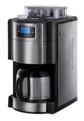 Russell Hobbs 21430-56 Cafetière Filtre semi automatique avec moulin à Café Isotherme Collection Buckingham