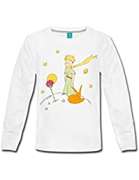 Spreadshirt The Little Prince With Fox and Rose Kids' Premium Longsleeve Shirt