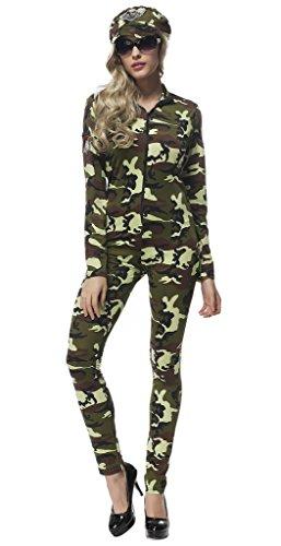 rm Design Damen Jumpsuit Halloween Bekleidung Kostüm Mehrfarbig L ()