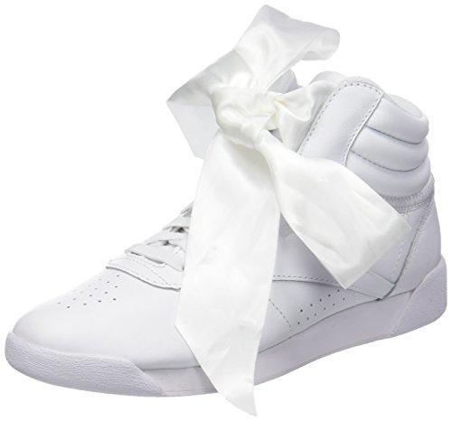 Reebok F/s Hi Satin Bow, Zapatillas de Gimnasia para Mujer, White/Skull Grey White/Skull Grey, 38...