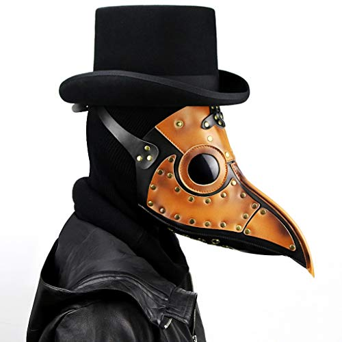 Kostüm Steampunk Fee - ZHLJ Steampunk Pest Schnabel Maske Halloween Requisiten Maske