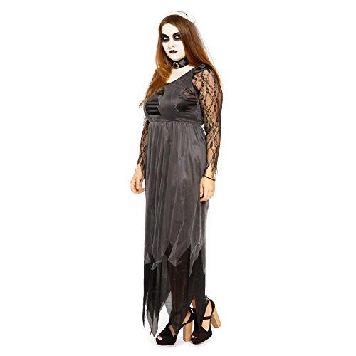 Halloween Gr.XL Party Maedchen Kostuem Geist Braut Kostuem Horror Geisterbraut Damen Zombie Horror Hexe Vampir ()