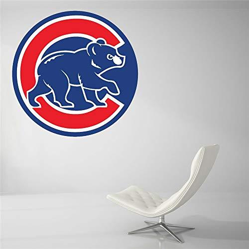 Wandtattoo Chicago Cubs Baseball Team Zeichen Wand Dekor MLB Logo Wand Aufkleber Vinyl Dekor Zimmer Auto Aufkleber Kunst