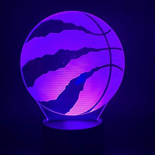 3d Lampe,Basketball Toronto Raptors 3D Led Nachtlicht Für Club Home Office Room Decor Licht Geschenk Für Kind Kind Bunte Tisch Schreibtischlampe 3D (In Toronto Halloween Party)