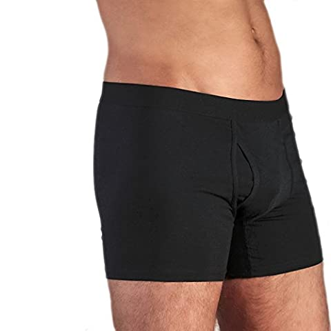 Herren Boxer Shorts // GOTS zertifiziert // ökologisch | fair | Bio-Baumwolle - XL - Schwarz
