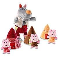Lilliputiens - 86155 - Marionnette Loup et Les 3 Petits Cochons