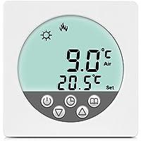 Wochenprogramm #843 24V Digital Thermostat Raumthermostat LCD weiss