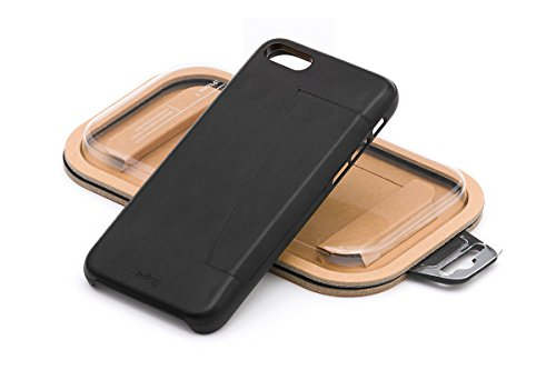 Bellroy iPhone 8 / 7 Phone Case - 3 Card aus Leder, Farbe: Black Black