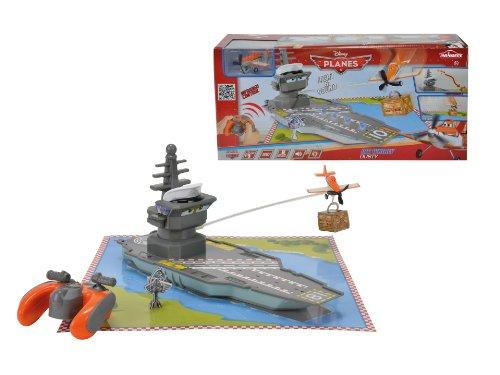 Majorette- 213089802-  Vehicule Miniature, Planes, Avion RadioCommande, Whirly Dusty, Porte avion 30 par 20 cm 3467452019733