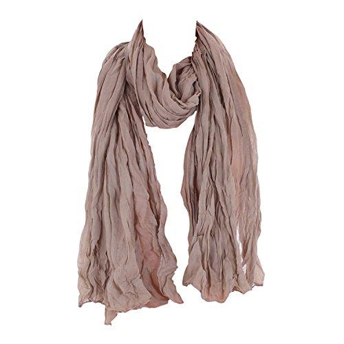 Leichter Damen Schal Nr. 374 viele Farben Beige