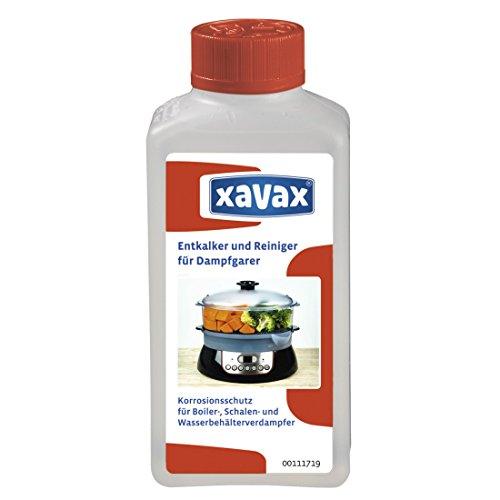 Xavax Flüssig-Entkalker und Reiniger für Dampfgarer und Dampfbacköfen, 250ml (für Boiler-, Schalen- und Wasserbehälterverdampfer) Entkalkungsmittel