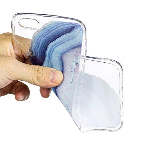iphone 6 Plus Hülle, E-Lush TPU Soft Silikon Tasche Transparent Schale Clear Klar Hanytasche für iphone 6 Plus (5.5 Zoll) Durchsichtig Rückschale Ultra Slim Thin Dünne Schutzhülle Weiche Flexibel Hand Die Hälfte des Felsens