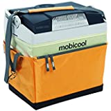 MOBICOOL G26S DC Thermoelectric Cool Box Fabric, Yellow/Grey, 25L, 12V