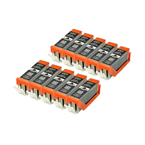 10 Druckerpatronen für Canon PGI-550BK XL IP-7250 8750 IX-6850 MG-5450 5550 6350 6450 7150 MX-725 925