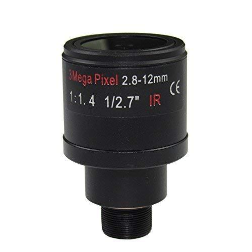 3.0Megapixel Fixed Iris M12 HD 2.8-12mm Varifocal IR cctv Objektiv, F1.4, manueller Fokus Zoom, Blickwinkel 90 ~ 28degree, M14 optional 12 Mm Fixed Iris