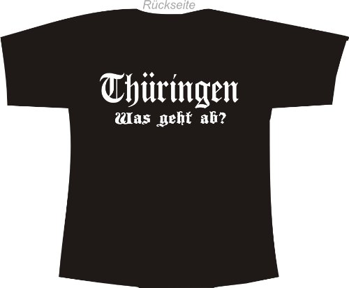 Thüringen - Was geht ab?; Polo T-Shirt schwarz