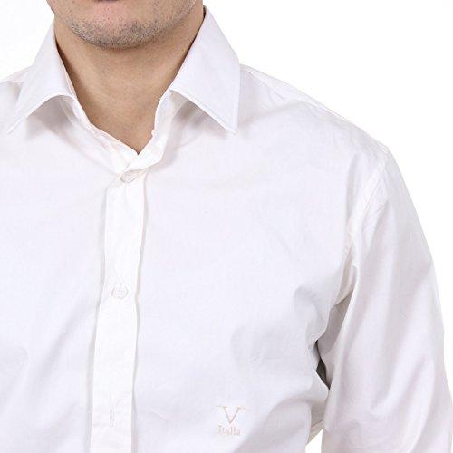 Versace 19.69 Abbigliamento Sportivo Srl Milano Italia Mens Classic Neck Shirt 377 ART. 421 white