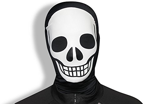 orphmaske Skelett (Morphsuit Kopf)