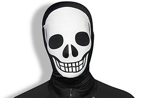 Morphsuits MMPSK - Morphmaske Skelett (Halloween Slenderman Kostüme)