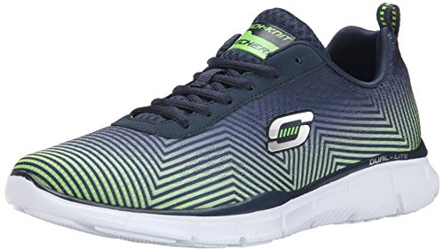 Skechers - Equalizer game Day, Sneaker Uomo Navy / Lime