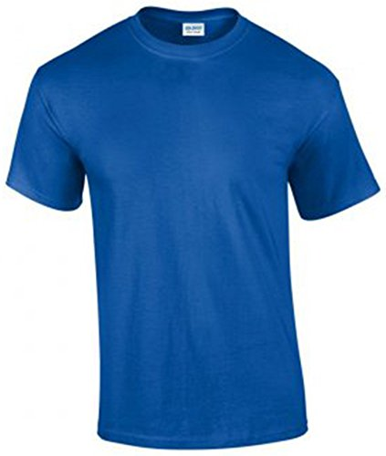 Gildan Herren Ultra Cotton T-Shirt Kurzärmlig Blau