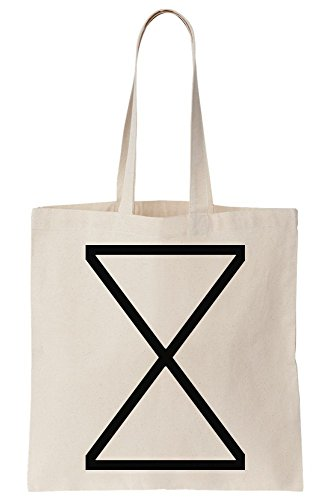 Triangles X Sand Clock Sands of Time Minimal Canvas Tote Bag (Of Time Sands Clock)