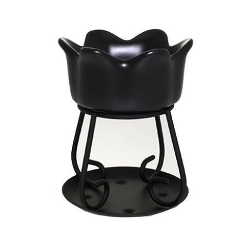 Yankee Candle Black Petal Bowl Tart Burner / Melt Warmer (New for 2014)