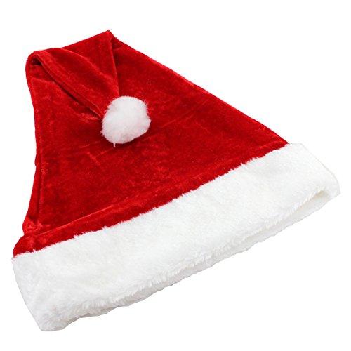 Brawdress Samt Plüsch Weihnachtsmann-Hut Komfortliner Weihnachten Urlaub Topper(Wackelnde Zipfelmütze) (Topper Baum Hut)