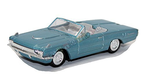 newray-143-diecast-ford-thunderbird-1966-convertable-in-blue-all-american-city-cruiser-collection