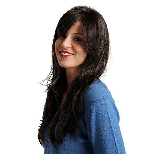 Sexy Beste Geschenke für Frauen !!! Beisoug gummierte Papiermaschen-Haarteil mit langem schwarzem und braunem Haar