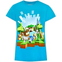 Vanilla Underground Minecraft Adventure Girl S Blue T-Shirt (11-12 Years) 711d74fc309