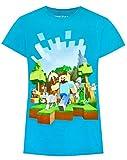 Vanilla Underground Minecraft Adventure Girl'S Blue T-Shirt (11-12 Years)