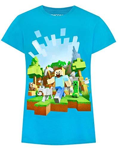 fc6c53689 Niña - Noisy Sauce - Minecraft - Camiseta (9-10 Años)
