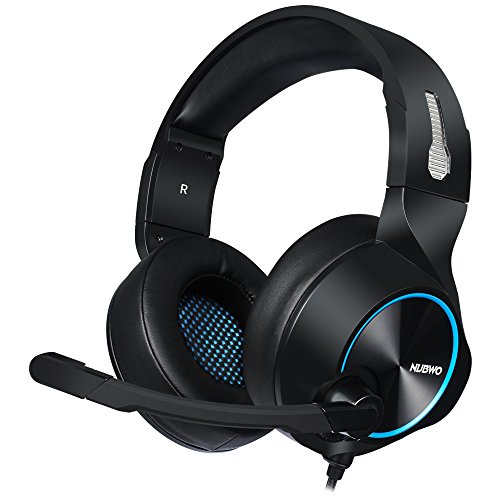PS4 Gaming Headset Mikrofon-Lautstärkeregler, Xbox One PC Stereo-Kopfhörer, In-Line Control für PC, Laptop, Mac, Windows, Nintendo Switch (N11D - 3.5mm, Schwarz - Blau)