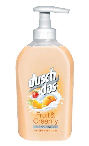 Duschdas Flüssigseife Fruit und Creamy 300ml Spender, 6er Pack (6 x 300 ml)
