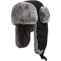 Zxcvb Lei Feng Hat Hombre Invierno Más Algodón Acolchado Gorra de esquí A Prueba de Agua Sombrero de Piel de Conejo Sombrero de Piel Sombrero de Oreja de algodón al Aire Libre