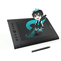 HUION H610 Pro Tableta Gráfica, 2048 Niveles de Presión Del Lápiz, Tamaño Grande, Buena Para Dibujo