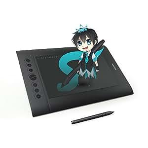 """Huion® H610 PRO Tavoletta Grafica 25,4 cm x 16cm (10""""x6.25"""") con Penna Ricaricabile per Disegni artistici ed Anime"""