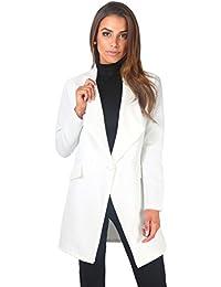 dea5838b4fe4d KRISP® Women Ladies Tailored Oversized Fashion One Button Long Loose Blazer  Coat Jacket