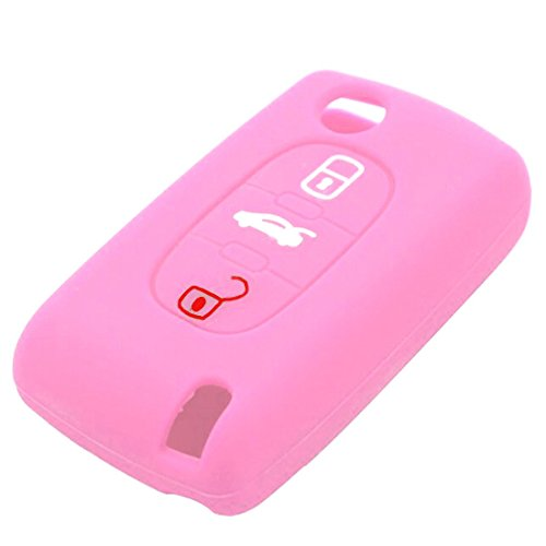 Preisvergleich Produktbild joyliveCY Silikon Car Remote Key Fob Abdeckung f¨¹r Peugeot 307 3 Tasten Car Styling Schl¨¹sseletui
