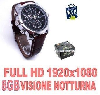 Full HD 1080p Montre espion 4Go 1920x 1080infrarouge Night Vision Spy Watch