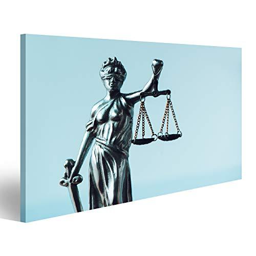 Bild Bilder auf Leinwand Lady Justice Statue in der Anwaltskanzlei Die Figur mit Augenbinde Gleichgewicht und Schwert ist die Personifizierung der moralischen Kraft im Justizsystem und ihr U