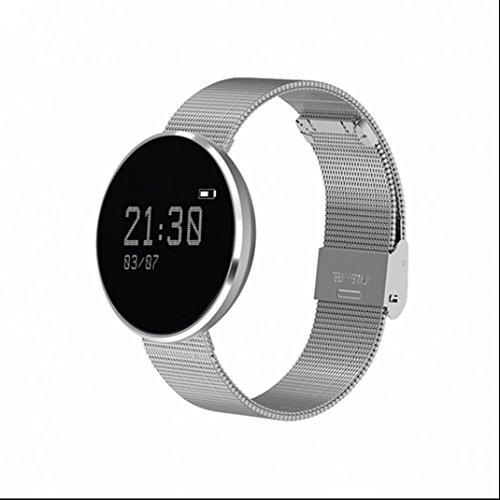 Herzfrequenz Fitness Tracker Sport Armband Smartwatch Stoß Multifunktionale Pedometer Sitzender Alarm Schrittzähler mit Distanz Datum und Uhrzeit Aktivitätstracker für Android und IOS
