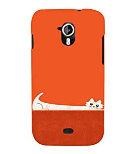 EPICCASE Stretchy cat Mobile Back Case Cover For Micromax A116 Canvas HD (Designer Case)