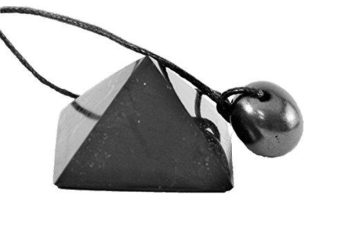 Shungite Stone Pyramid and Pendant Protection Set, Crystals Against Emf, Schungite Pendant. Root Base Chakra. Vibration Stone. by Karelian Heritage Heritage-crystal-crystal